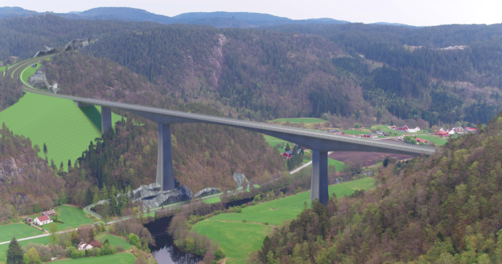Bro over Audnedalen